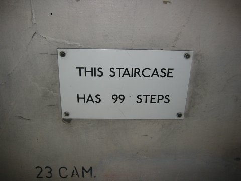 This staircase has 99 steps